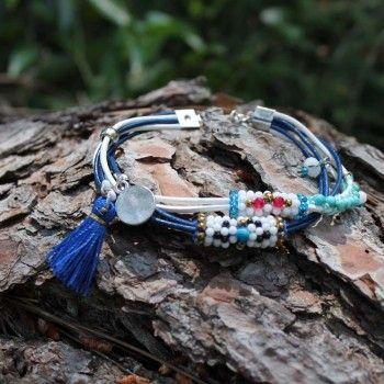 ae01693ba482 Pulseras azules de moda 2019 - Diseños exclusivos Cloris