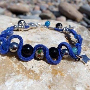 b9a8beee4826 ... pequeñas ágatas y ojo de gato con su azul casi eléctrico y el efecto  más metálico de estilo vintage del cloissone